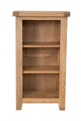 Melbourne Country Oak Small Bookcase / DVD Rack